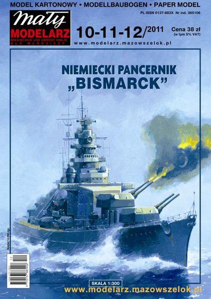 Niemiecki Pancernik Bismarck Mały Modelarz -10-11-12-2011