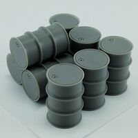 German Fuel drums - Image 1
