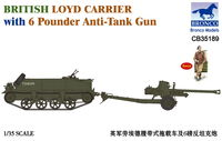 British Loyd Carrier with 6 Pounder Anti-Tank Gun