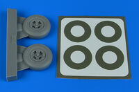 Spitfire Mk.IX wheels (4-spoke) & paint masks TAMIYA