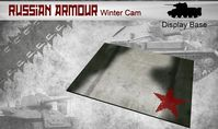 Small Russian Armour Winter Cam Display Base 148 x 105mm