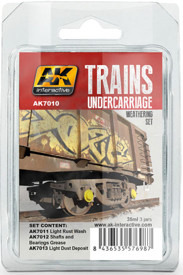 AK7010 Weathering Set Trains Undercarriage - Image 1