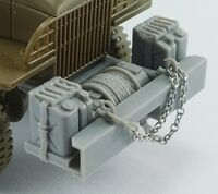 GMC CCKW 2,5t 6x6 (front bumper, aditional canisters and winch) for Tamiya