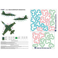 Masks for clover camouflage of Su-25UB, Ukrainian Air Forces