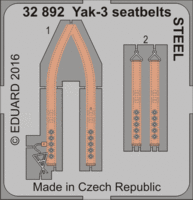 Yak-3 seatbelts STEEL SPECIAL HOBBY - Image 1