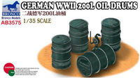 German WWII 200L Oil Drums - Image 1