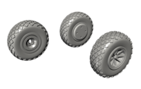P-40 Wheels - Cross Tread for Special Hobby kit - Image 1
