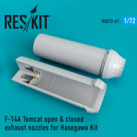 F-14A Tomcat open & closed exhaust nozzles for Hasegawa Kit