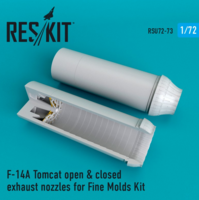 F-14A Tomcat open & closed exhaust nozzles for Fine Molds Kit