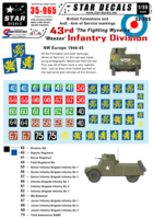 British 43rd Wessex Infantry Division Formation & AoS markings. - Image 1