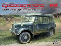 le.gl.Einheitz-Pkw Kfz.1 Soft Top, WWII German Light Personnel Car - Image 1