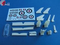 Upgrade for the first prototype of HAWKER HUNTER + vacu canopy + decal sheet kit - Image 1