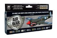 71184 Air War Color Series - US Army Air Corps China-Burma-India (CBI) Pacific Theater WWII Set