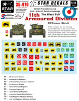 British 11th Armoured Division Formation & AoS markings. - Image 1