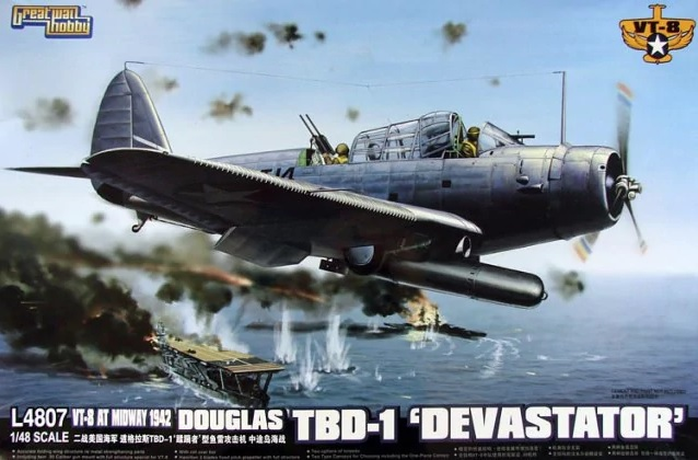 VT-8 AT Midway 1942 Douglas TBD-1 Devastator - Image 1
