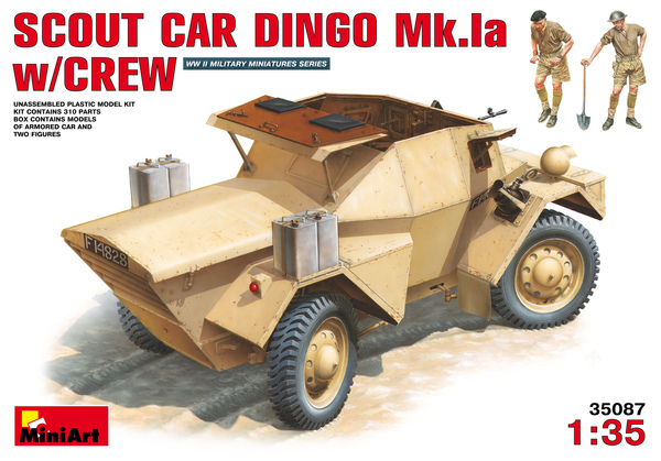 British IIWW Scout Car DINGO Mk.Ia with crew - Image 1