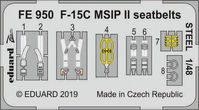 F-15C MSIP II seatbelts STEEL GREAT WALL HOBBY - Image 1