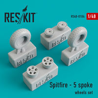 Spitfire - 5 spoke wheels set - Image 1
