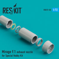 Mirage F.1 exhaust nozzle for Special Hobby Kit - Image 1