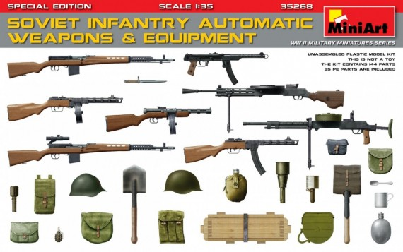 SOVIET INFANTRY AUTOMATIC WEAPONS & EQUIPMENT - Image 1