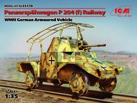 Panzerspähwagen P 204 (f) Railway, WWII German Armoured Vehicle