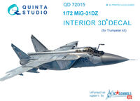 MiG-31DZ  3D-Printed & coloured Interior on decal paper - Image 1