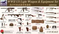 WWII US Light Weapon and Equipment Set - Image 1