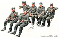"German Infantry ""Off to the front"" Vehicle riders, WW II Era"