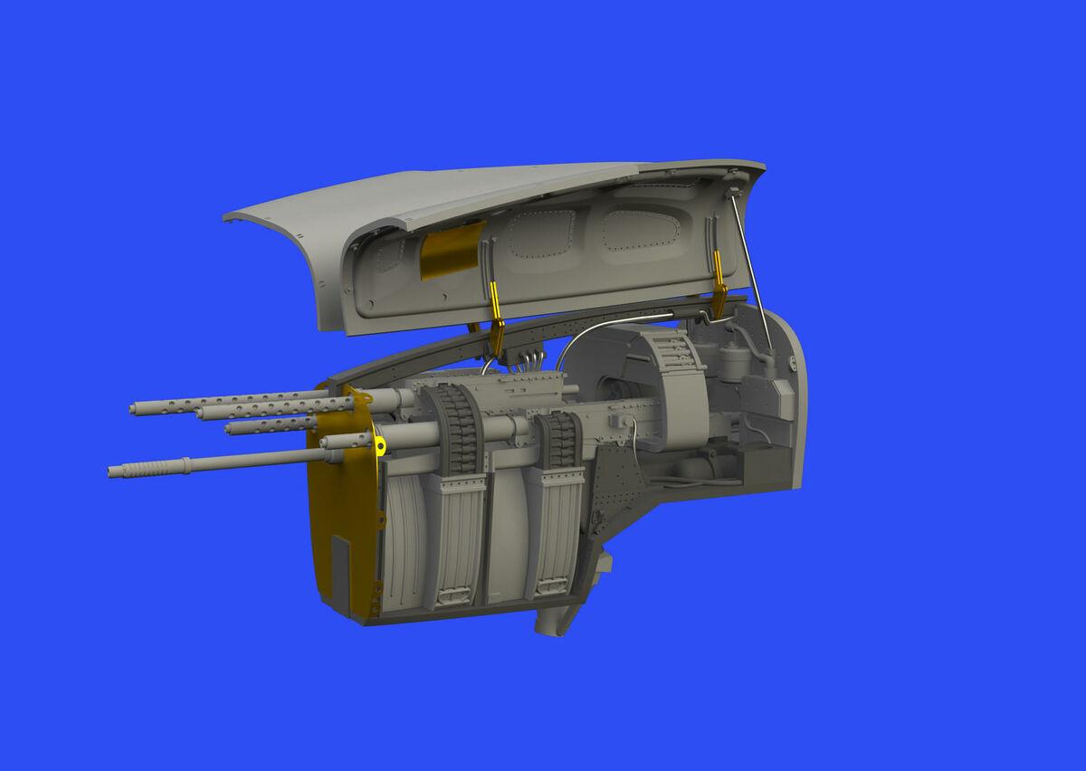 P-38F/G nose gun bay TAMIYA - Image 1