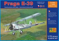 Czechoslovakian bi-plane Praga E-39 (2 models in set)