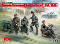 German Command Vehicle Crew (1939-1942) (4 figures) - Image 1