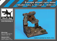 Europe street ruin base (95x60 mm) - Image 1