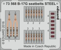 B-17G seatbelts STEEL AIRFIX A08017 - Image 1
