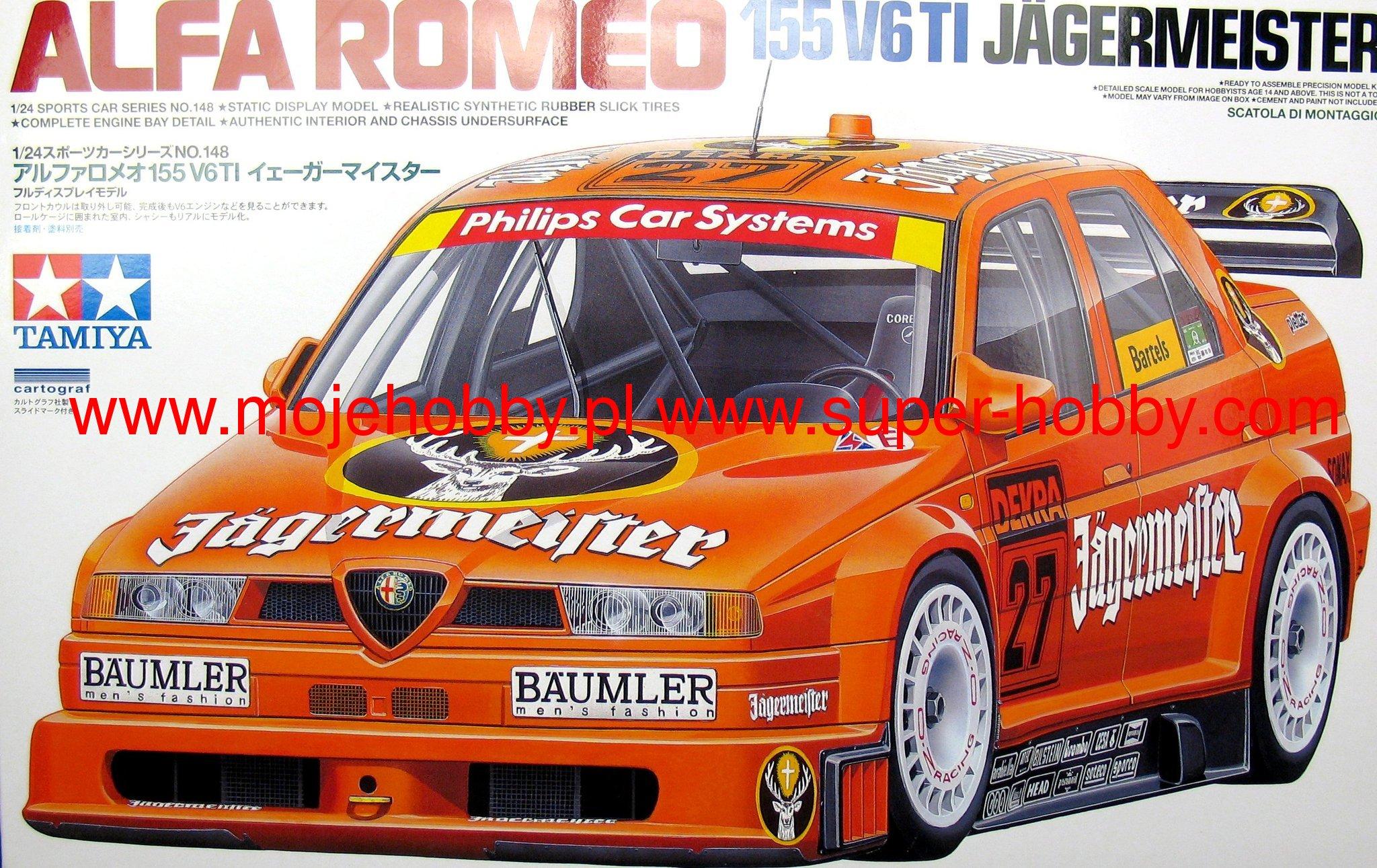 Alfa Romeo 155 V6 TI Jagermeister model do sklejania Tamiya