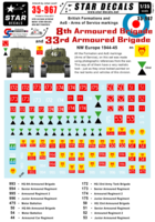 British 8th and 33rd Armoured Brigade Formation & AoS markings. - Image 1