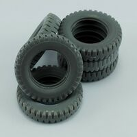 Sapare tires for German 3ton 4X2 Truck for Tamiya - Image 1