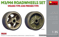 M3/M4 Roadwheels set welded type and pressed type
