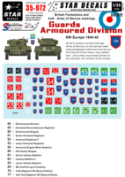 British Guards Armoured Division Formation & AoS markings. - Image 1