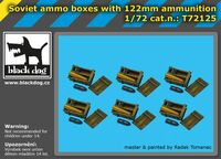 Soviet ammo boxes with 122mm ammunition