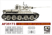 Soviet T-34 500mm Width Cast Links (Workable)