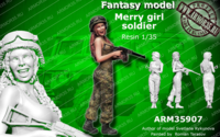 Merry girl soldier - Image 1