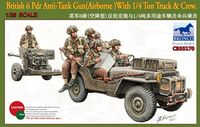 British 6 Pdr Anti-Tank Gun (Airborne) with 1/4 Ton Truck with Crew