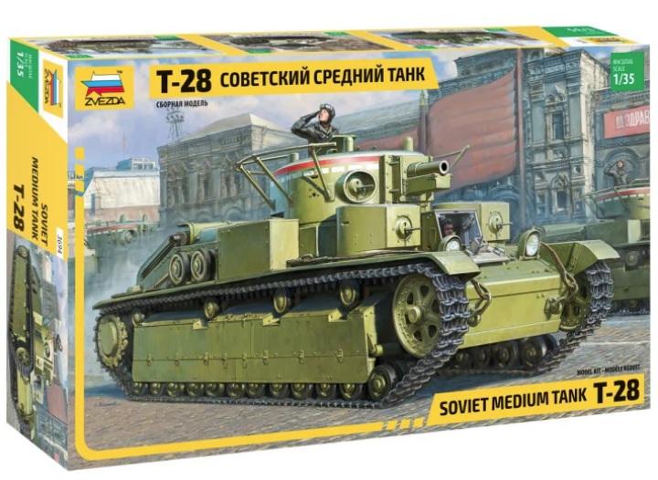 Soviet Medium Tank T-28 model do sklejania Zvezda 3694