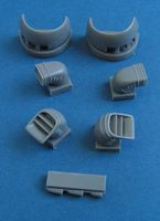 BAe Harrier GR.9 - engine intakes and exhaust nozzles for Airfix