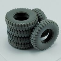 Spare tires for US M8 and M20 for Tamiya
