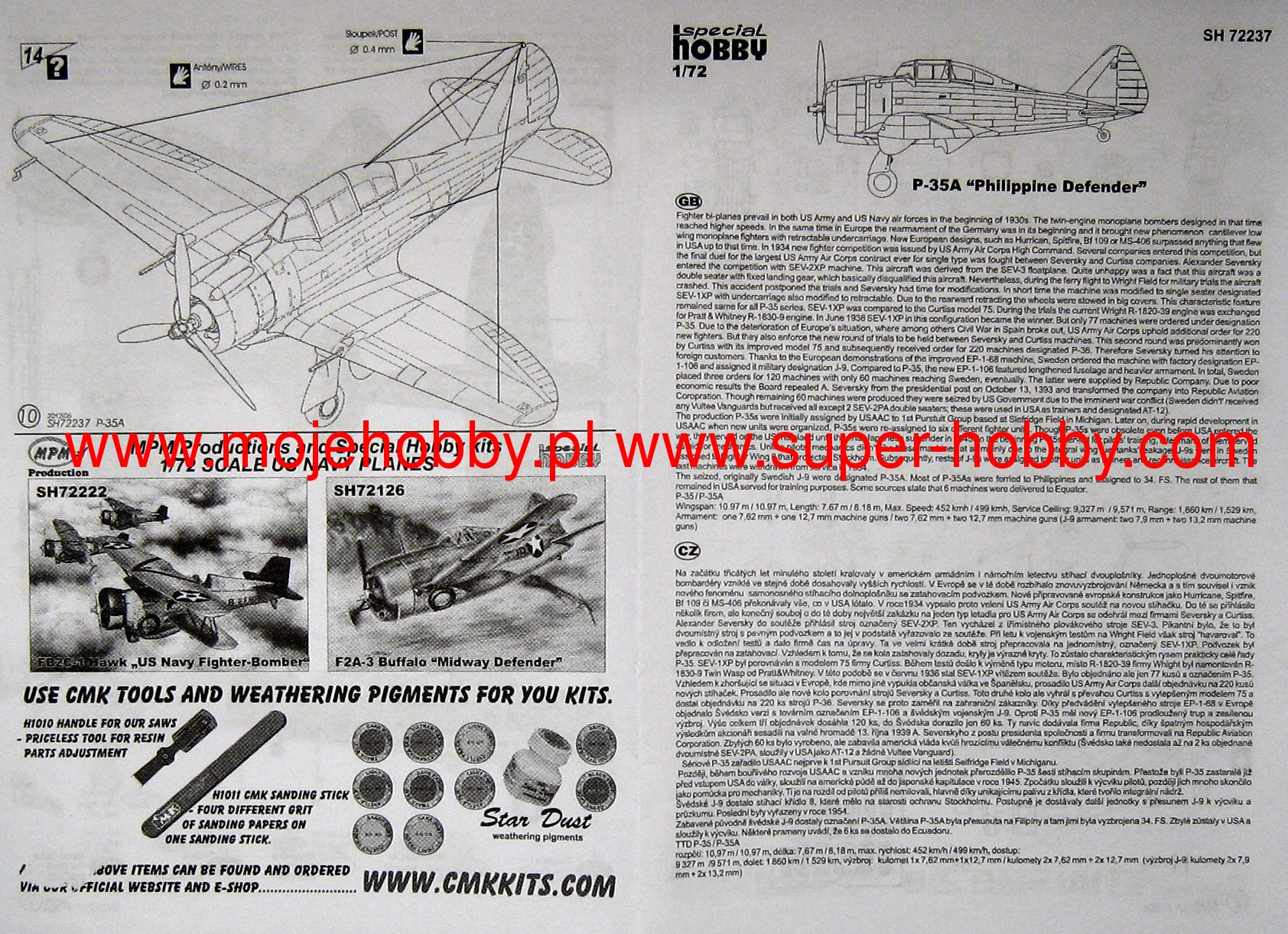 Special Hobby 1 72 Seversky P 35a 72237 Models [ 1222 x 1684 Pixel ]