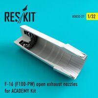 F-16 (F100-PW) open exhaust nozzles for ACADEMY Kit