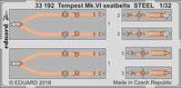 Tempest Mk.VI seatbelts STEEL  SPECIAL HOBBY - Image 1
