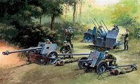 German Guns Set: PAK37 - PAK40 - FLAK38